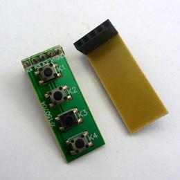 Wholesale Board Header - 2pcs 2.54mm Female Pin Header 4 Button key Switch Keyboard kit for raspberry pi FPGA CPLD ARM AVR Development Board