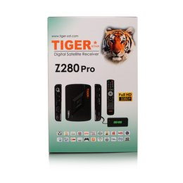 Wholesale Satellite Receiver Hd Dvb S2 - Tiger Z280 Pro Full HD Satellite Receiver DVB-S2 1080P IPTV Set Top Box with One year IPTV and IKS for free