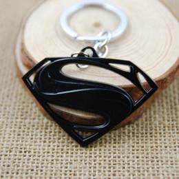 Wholesale Key Ring S Logo - The Avengers Superman S Logo Superhero Pendant Keychain Zinc Alloy Metal Spider Man Key Chain Key Ring For Men Women Christmas Gift M182