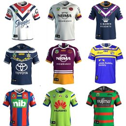 Wholesale Manning Broncos - 2018 Sydney Rabbitohs Roosters Newcastle Knights Brisbane Broncos Canberra Melbourne Storm rugby jerseys New NRL Jerseys Size S-3XL