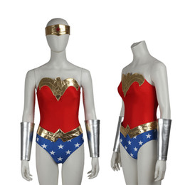 Wholesale Custom Made Sexy Costumes - New Customize Apparel Wonder Woman Justice League Diana Prince Cosplay Costume Sexy Women's Uniform For Halloween Party