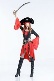 Wholesale Pirate Luxury - Pirates of the Caribbean Costumes Halloween Queen Costumes Luxury Stage Costumes Cosplay