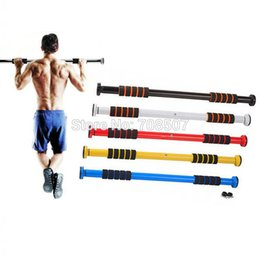 Wholesale Chin Up Workouts - Wholesale-Horizontal Bars Gallant Door Home Gym Bar Exercise Workout Chin Up Pull Up Sit Fitness Iron Man