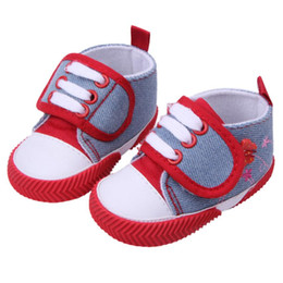 Wholesale Baby Crib Shoe Sizes - Wholesale- 2015 boy girl Soft Sole Crib Shoes autumn winter cotton baby first walker baby shoes newborn toddler shoes size 11,12,13 cm