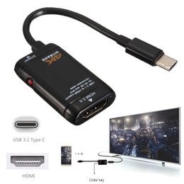 Wholesale mhl hdmi - USB 3.1 Type C To MHL HDMI Adapter Cable Cord 4K   2K   1080P Male To Female For Type C Port LeTV Le 1 1S Max Pro X600 X800 HDTV