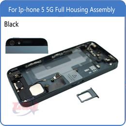 Замена для IPhone 5 5G Задняя крышка Аккумуляторная батарея Полный корпус в сборе с лотком для SIM-карты + кнопки + гибкие кабели от