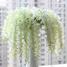 Wholesale Hg Wholesales - Wholesale-Hot Sale Romantic Artificial Wisteria Silk Flower Home Party Wedding Garden Floral Decoration Drop Shipping HG-091990