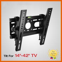 "Wholesale 17 Inch Monitors - Slim LED LCD Tilt TV Wall Mount Bracket Monitor Mounting Brackets 14 17 19 20 24 26 27 32 37 40 42"" Inch"