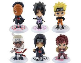Wholesale Naruto Figure 6pcs - naruto 6pcs Q Edition Naruto Anime Action Figures Collection PVC Naruto Figures Model toy Set Action Figure Toys free shipping