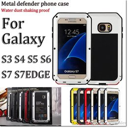 Wholesale Waterproof Shockproof Phone S3 - 2016 HOT Brand Waterproof Dropproof Dirtproof Shockproof Phone Case for samsung s3 4 5 6 7 s7 edge note3 45 Back Metal Cover with retail box