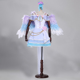 Wholesale Japanese Making Love - love live cosplay dress with feather wing flowers short lolita dress customs size making