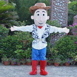 Wholesale Toy Story Cartoon Characters Costumes - NEW fursuit mascot for sale Toy Story Cowboy Woody mascot cartoon character costume Halloween animal costumes free shipping