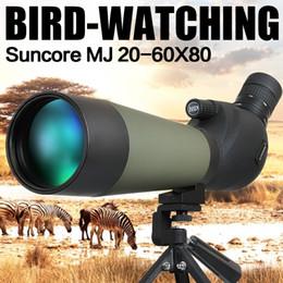 2019 trípode Venta al por mayor-Suncore MJ 20-60X80 Alcance de la caza Monocular Monocular de enfoque con una sola mano Observación de aves con trípode trípode baratos