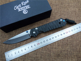 Cuchillo chris reeve d2 online-Nuevo Chris Reeve Large Sebenza cuchillo plegable Carbon Fibber mango D2 cuchilla de caza al aire libre cuchillo de supervivencia cuchillo utilitario EDC cuchillo