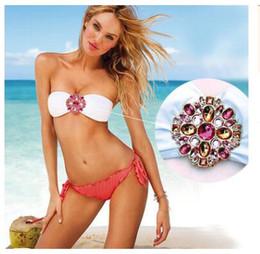 Wholesale Women Bikini Swimsuit Crystal Diamond - Sexy strapless Women Bikini Swimsuit Spandex Swimwear bathing suits on sale Crystal diamond sw0039