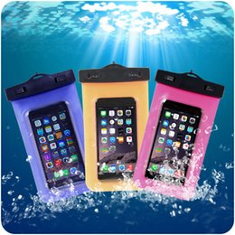 Wholesale Top Waterproof Iphone 5s Cases - Top sale Universal waterproof bags with Strap Dry Pouch Cases for galaxy s7 iphone 5s SE 6s plus Hybrid Swimming Case iphone cases