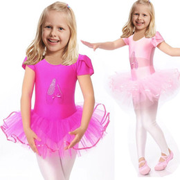 Wholesale Applique Leotards - 2016 Cute Girls Ballet Dress For Children Girl Dance Clothing Kids Ballet Costumes For Girls Dance Leotard Girl Dancewear