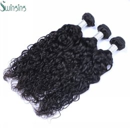 Wholesale Indian Hair Smooth - 3pcs a Lot Of Malaysian Natural Wave Human Hair Bundles Indian Brazilian Peruvian Hair High Quality Natural Color Smooth Human Hair