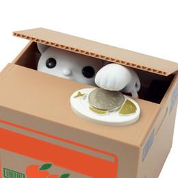 Kreatives Sparschwein Itazura Kitty Cat Steal Money Coin Box Sparschwein E00170 BAR von Fabrikanten