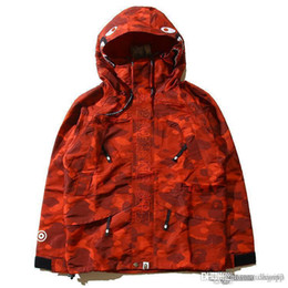 Wholesale Popular Coat Brands - Newest Popular Camouflage Men's Hoodies Windbreaker Hoodies Fashion Cardigan Leisure Coat Popular Brand Japanese Lapel High Qualiy Hood