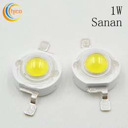 Wholesale diode power led - High Power led Beads led light 1W LED Lamp LED Chip Emitting Diode Sanan Chip White Warm White Red Blue Purple Green