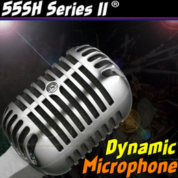 Wholesale Old Microphones - Professional Silver 55SH Series II Retro Classic Dynamic Vintage Wired Microphone Old Style Vocal Mic For KTV Karaoke Studio Recording Mike