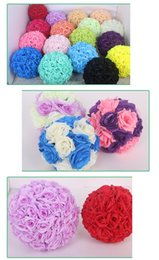 Wholesale Home Party Marketing - Artificial Rose Flower Ball for Wedding Party Decoration,Multicolor Simulation Roses Flower Ball Bride Bouquet Home Market Decor Flowers