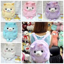 Wholesale Alpaca Bag - Wholesale-So Cute Arpakasso Alpaca Soft Plush Backpack Shoulder Bag Lolita Girls Schoolbag