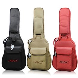Wholesale Acoustic Guitar Bags - New 40 41 Inches Shoulders Thickening Classical Folk Acoustic Guitar Bag Waterproof Oxford Guitar Sponge Bag Guitar Case