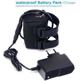 Wholesale Batteries For Bike Lights - 8.4v rechargeable 4*18650 6400 mAh battery pack for bicycle light bike light,headlamp Li-lon battery Waterproof Silicone+8.4V Charger