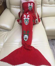 Wholesale Christmas Hand Towels - Christmas Designs Adult Handmade Mermaid Tail Blanket Crochet Mermaid Blankets Mermaid Tail Sleeping Bags Mattress Knit Sofa Blankets