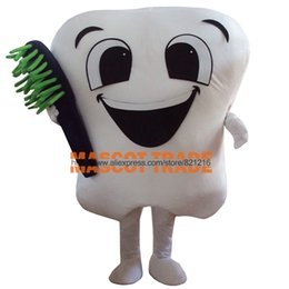 Wholesale Dental Costumes - tooth mascot costume party costumes fancy dental care character mascot dress amusement park outfit