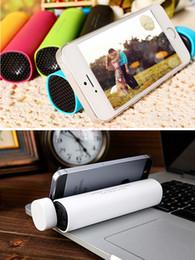 Wholesale Usb Power Tube - Bluetooth speaker with 4000 mAh battery Phone holder wireless speakers Handfree Mic Stereo Portable Speaker power Tube Speaker Call Function