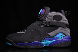 Wholesale Bright Cotton Fabric - With box new 8 Aqua Black friday Bright Concord Purple men basketball shoes VIII 8s women sneakers size 8-13
