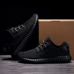 Wholesale Wide Black Lace - Factory Quality 350 Boost Sneakers Pirate Black BB 5350 Size 4-13 Double Box Kanye West Real Boost Wide Bottom Women Men Running Shoes