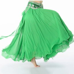 Wholesale Belly Dance Sale - Hot Sale 11 Colors Chiffon Belly Dance Clothing 3 Layers Full Circle Long High Waist Maxi Women Skirts for Belly Dance