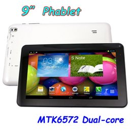 Wholesale Unlocked Android Gsm Tablet Pcs - Phablet B900 Tablet PC 9 inch MTK6572 Dual-core 1.2GHz 2G GSM Unlocked Phone Call Android 4.4.2 WIFI GPS Bluetooth 800*480
