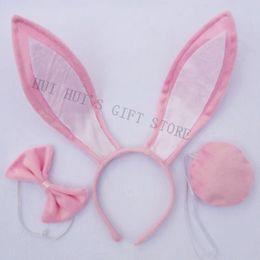 Wholesale Headband Ears Tail Bow Tie - Wholesale-Free shipping Easter Party rabbit ear Bunney ear headband bow tie tail set