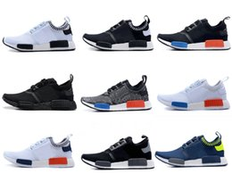 Wholesale Floor Free - many colors New NMD Runner Primeknit Men Running Shoes Fashion sports Sneakers for Mens and Women Free Shipping Black hot high quality