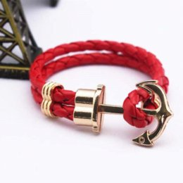 Wholesale One Direction Anchor Bracelet - Cuff bracelets muilt colors PU leather Anchor Bracelet men pulseira men jewelry one direction bracelets & bangles for women