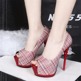 Wholesale Sexy Spring Heels - New Fashion Thin High-heeled Shoes Sexy Woman Pumps Women's Shoes Fashion Super High Heels Women Dress Shoes