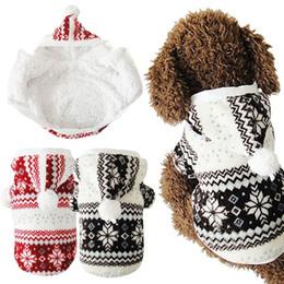 Wholesale Hot Dog Coats - Hot Soft Winter Warm Pet Dog Clothes Snowflake Dos Costume Clothing Jacket Teddy Hoodie Coat ropa para perros