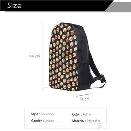 Wholesale Kids School Cloths - Hot Selling 2016 A+++ Women Fashion Backpack Printing Backpacks Canvas Emoji Backpacks for Teenage Girls Bag to School for Teenagers