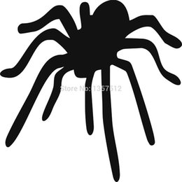 Wholesale Spider Car Decals - Wholesale 20pcs lot Automobile Motorcycle Vinyl Decal Car Glass window Windshield Bumper Door SUV Auto Stickers Jdm Arachnid Spider
