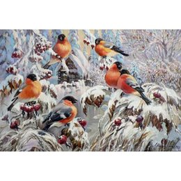 Wholesale Paint Offers - Special offer Diy diamond painting In maple in the flock of birds full square diamond Inlaid embroidery 40x27cm HWB-521