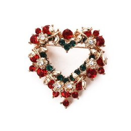 Wholesale Scarf South - Christmas brooches scarf buckle rhinestone brooch fashion jewelry high quality accessories brooch wedding bouquet brooches for wedding