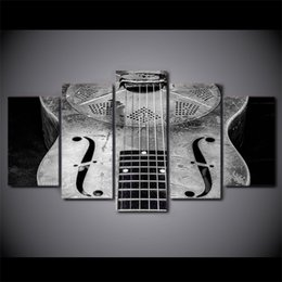 moderne klassische gitarre Rabatt 5 Teile / satz Gerahmte Gedruckt Klassische Gitarre Musikinstrument Poster Moderne Home Decoration Print Malerei Leinwand Wand Bild