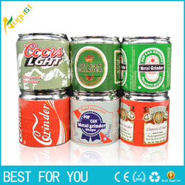 Wholesale Can Coke - wholesale Tobacco Grinder Coke Pop Cans Herb Pollen Spice Crusher 4 Parts Hand Mull Grinder High Quality