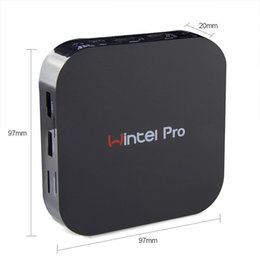 Wholesale Intel Box - wintel pro windows 10 OS tv box Intel inside Quad Core mini pc 2G+32G wintel pro TV Box better than CS918 MXQ MXV TV BOX