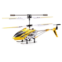 Wholesale Mini Helicopter Syma - New SYMA S107G Phantom 3.5CH Mini Metal RC Helicopter GYRO red rc toy red yellow